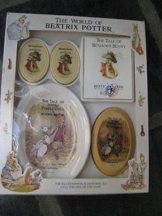 Vintage Beatrix Potter Soap Set by VintageByThePound on Etsy, $16.00