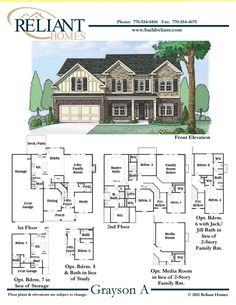 Homes for sales dream homes and floor plans on pinterest for Reliant homes floor plans