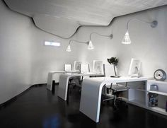 Office ceiling ideas Lighting Ideas Modern And Cool Office Ceiling Design Ideas Decor Modern Home Office Ideas Interior Design Apparelsalesinfo Modern And Cool Office Ceiling Design Ideas Decor Decoration Home Office Ceiling Design, Office Space Design, Modern Office Design, Workspace Design, Office Designs, Contemporary Office, Modern Desk, Office Spaces, White Office Furniture