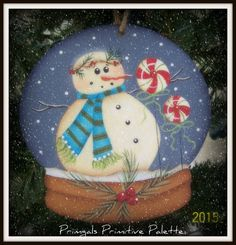 This is such a nice size ornament as it can be used on your holiday tree or added to packages, wreaths, or garlands for you holiday decorating. It is made of wood and measures 4-1/2x4-1/2 and will come ready to hang with a white ribbon. Glitter paint was used on the peppermints and berries.   After painting it was sealed for lasting protection for years to come. This is a Renee Mullin design hand painted by me. Thanks so much for looking