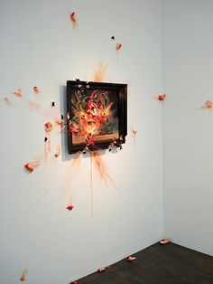 Valerie Hegarty - Exploding Peaches (with Frame)
