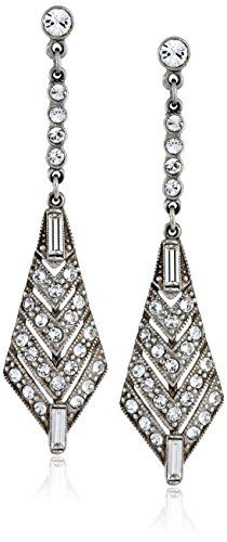 BenAmun Jewelry Crystal Deco Crystal Triangular Drop Earrings * Check this awesome product by going to the link at the image.