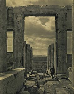 """didoofcarthage: """" """"The Propylaia to the Acropolis, Athens"""" by Braun, Clément & Cie 1869 (negative) and about 1890 (print) carbon print Getty Museum """" Athens Acropolis, Parthenon, Athens Greece, Greece Art, Old Pictures, Old Photos, Classical Athens, Greece Photography, Europe Holidays"""