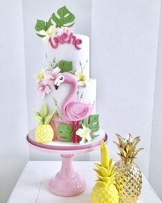 🍍🌺 Happy birthday 🌺🍍 with by - Monza . Flamingo Cake, Flamingo Birthday, Birthday Cake, Birthday Parties, Happy Birthday, Pastel Party, Tropical Party, Its My Bday, Cake Smash