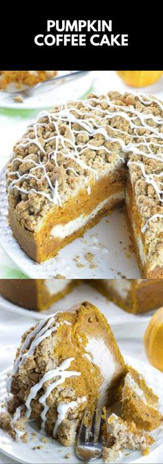 Most up-to-date Absolutely Free Pumpkin Coffee Cake Fall Dessert Recipes - Recipes - # PumpkinCoffeeCakeF . Concepts Pumpkins are often wonderful circular, bright orange, and in autumn they must not be missing especia Fall Dessert Recipes, Fall Desserts, Just Desserts, Delicious Desserts, Holiday Recipes, Yummy Food, Pumpkin Coffee Cakes, Pumpkin Dessert, Coffee Dessert