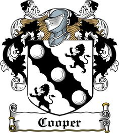 INSTANTLY DOWNLOAD the Cooper Family Crest / Irish Coat of Arms High Quality 300 dpi DOWNLOAD