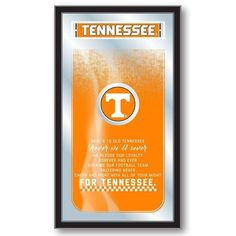 [[start tab]] Description The University of Tennessee Volunteers Fight Song Mirror is the perfect way to show your school pride. This Mirror displays the school's logo and the verses that get them fir