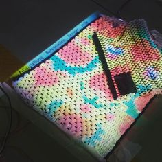 A #projection  mapping on a #textile with an #interaction #arabian #music  #distance #sensor and pressure sensitive sensors with #arduino #microcontrollers by culteum
