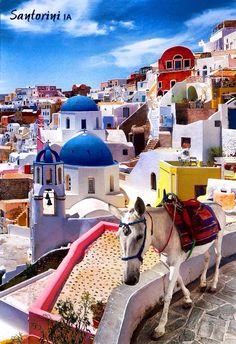ღღ Santorini, G r e e c e Santorini Greece Beaches, Santorini Island, Vacation Places, Places To Travel, Cool Places To Visit, Places To Go, Greece Islands, Greece Travel, Wonders Of The World