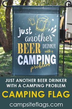 So crack one open and let the good times roll with this campsite flag! Are you looking for RV camping flag with a great camping meme? Rv Camping Checklist, Camping Meals, Campsite Decorating, Good Times Roll, Flag Decor, Rv Life, Happy Campers, Beer, Camper Ideas