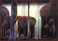 Eyvind Earle: Gothic Forest