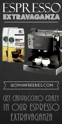One grand prize winner will win a #DeLonghi EC 702 Pump #Espresso Maker & some #beans from #Starbucks! https://www.facebook.com/WomanFreebies/app_320151558119104 #GIVEAWAY