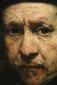 Rembrandt, self portrait | Detail of a self portrait at the … | Flickr