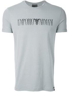 9a84d3b5db25 Shop Emporio Armani logo print T-shirt