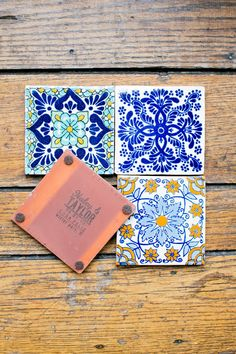 Tile favors -- Classic Ivory Florida Wedding With A Southwestern Flair