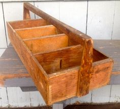 Carpenter's Wooden Tool Box Vintage by VintageRiverview on Etsy, $25.00