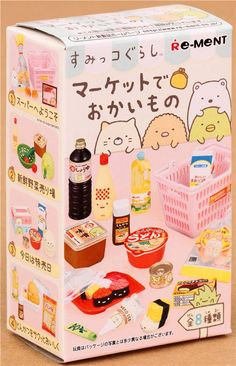 Sumikkogurashi supermarket shy animals mascot Re-Ment miniature blind box