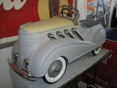 *PEDAL CAR ~ 1937 STEELCRAFT SUPERCHARGER