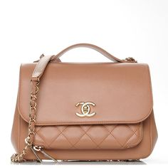 7d452ff70108 This is an authentic CHANEL Caviar Quilted Small Business Affinity Flap in  Camel. This sleek