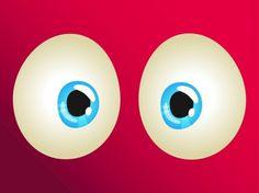 two blue eyes cartoon