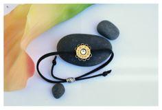 7mm Rem Mag Adjustable Suede Bracelet - Antique Brass/Black