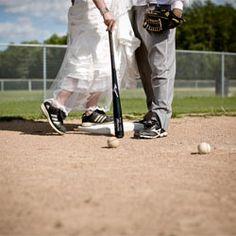Check out Lisa and JJ's adorable baseball-themed wedding shoot! By Dana Widman Photography