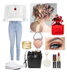 """""""Bon Matin"""" by anjolea on Polyvore featuring Sans Souci, Hollister Co., Converse, Bling Jewelry, Mansur Gavriel, Too Faced Cosmetics and Marc Jacobs"""