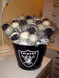 Oakland Raider cake pops and chocolate Oreos