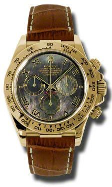 Rolex - Daytona Yellow Gold - Leather Strap #116518DKMRBR