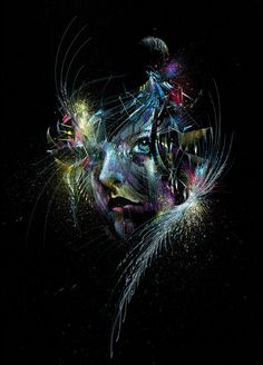 Fly me to the moon  limited edition giclee print by carnegriffiths