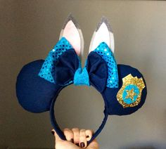 Judy Hopps Zootopia Minnie Mickey Mouse Ears by BRosesBoutique