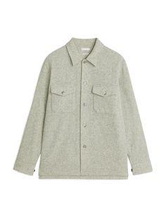 Wool Overshirt - Beige - Shirts - ARKET GB