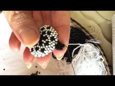 Rope Crafts, Diy Crafts, Beaded Jewelry Patterns, Peyote Stitch, Beaded Rings, Druzy Ring, Beads, Pendant, Beadwork