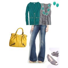 A fashion look from April 2011 featuring pocket cardigan, shell tank and stretch blue jeans. Browse and shop related looks. Passion For Fashion, Love Fashion, Fashion Outfits, Fashion Ideas, Mode Style, Style Me, Shoes Style, What I Wore, What To Wear