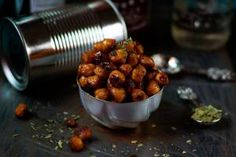 Pan Roasted Sriracha Spiced Chickpeas - Nancy Lopez-McHugh