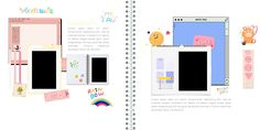 Overlays Cute, Overlays Tumblr, Diary Template, Collage Template, Aesthetic Japan, Aesthetic Themes, Journal Themes, Bullet Journal Ideas Pages, Picsart Tutorial