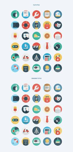 Ballicons 2 Vol. 2 Free Version, #Circular, #Flat, #Free, #Graphic #Design, #Icon, #PNG, #PSD, #Resource, #SVG, #Vector