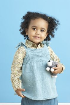 Child's Beach Top in Lion Brand Cotton-Ease - Discover more Patterns by Lion Brand at LoveKnitting. The world's largest range of knitting supplies - we stock patterns, yarn, needles and books from all of your favorite brands. Knitting For Kids, Baby Knitting Patterns, Baby Patterns, Free Knitting, Knitting Ideas, Knitting Projects, Crochet Baby, Knit Crochet, Knitted Baby
