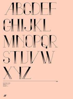 Vindeco Font by Andrew Footit, via Behance