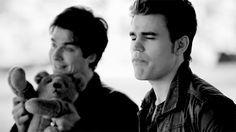 Cuties! Paul Wesley and Ian- Stefan Salvator and Damon Salvator. Oh gosh I can't stand it! xc so freaking cute! /.
