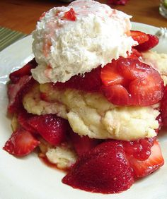 Six in the Suburbs: Strawberry Shortcake with Homemade Buscuits