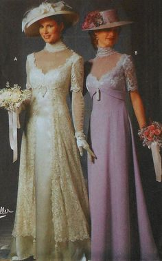 Edwardian Gown Costume Sewing Pattern