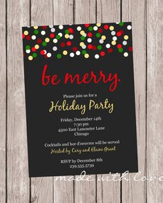 Christmas ConfettiChristmas/Holiday party by MadeWithLoveJJ, $12.50