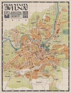 Vilnius map, 1930.