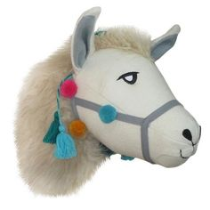 "• Made of polyester<br>• Measures 12""x10""x14""<br>• Includes hanging loop<br><br>Add some playful fun to your home with the Llama Head Wall Décor from Pillowfort. This animal wall art displays a llama's head decked out with tassels and pom poms for a touch of color."