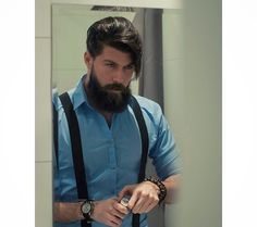 Bearded Men ~ This is truly my style: elegant, masculine, timeless. I Love Beards, Great Beards, Awesome Beards, Pelo Hipster, Mode Hipster, Hipster Man, Hairy Men, Bearded Men, Hair And Beard Styles