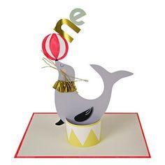 Circus Sea Lion Birthday Card