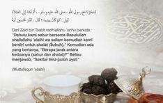 ANJURAN MENGAKHIRKAN MAKAN SAHUR Islamic Quotes, Place Cards, Place Card Holders