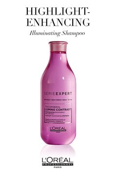 Enhance your hair highlights with the Serie Expert Lumino Contrast illuminating shampoo.
