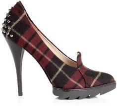 MCQ Alexander McQueen   Tartan Pointed Court Shoe